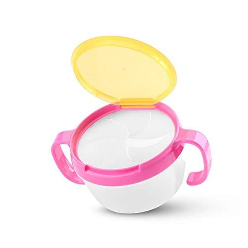360?Impulsor Baby Feeding Bowl no Spill giroscopio Plato para ni/ño ni/ños