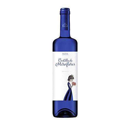 Vino verdejo Castillo de Miraflores de 75 cl - D.O. Rueda - Bodegas Grupo Estevez (Pack de 1 botella)