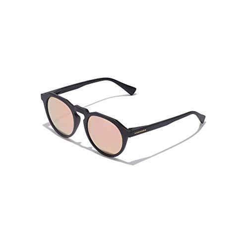 HAWKERS Gafas de Sol Warwick Carbon Black, para Hombre y Mujer, un clásico renovado Que combina Montura Mate y Lentes espejadas, Protección UV400, Negro/Dorado rosa, One Size Unisex-Adult