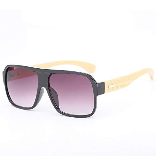 Gafas de Sol Gafas De Sol Retro Piernas De Bambú Gafas De Sol Moda Gafas De Color protección para los Ojos (Color : D)