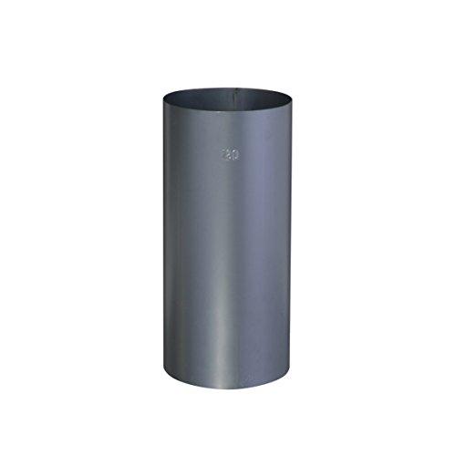 Ofenrohr Blaublech 0,6 mm Ø 120 mm Stahl gebläut, gerade - Rauchrohr, Kaminrohr grau - für nostalgische Öfen und Feuerstätten - Länge: 250 mm