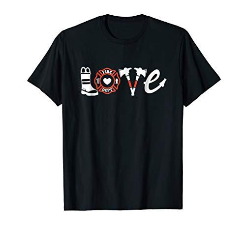 Firefighter Shirt- Love Firefighter Tee, Firefighter Gift