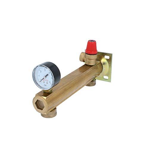 Messing Sicherheitsgruppe für Trinkwasser Installation Kesselgruppe 6 bar
