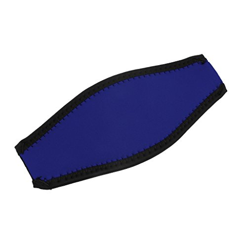 Doble Cara De Neopreno Máscara De Buceo Cubierta De La Correa Protector De Pelo Abrigo para Deportes Acuáticos Buceo Snorkel Apnea Ajustable Ajuste Fácil - 9 Colores - Azul Oscuro