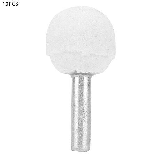 10 Stücke Kugelförmige Keramikscheibe Schleifkopf Polieren Bits Keramikschleifen Polierkopf für Drehwerkzeug(6 * 30MM)