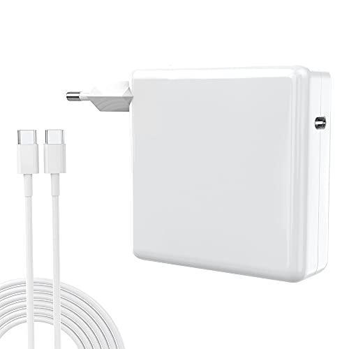 61W Cargador USB C Compatible con Mac Book Pro Air, Cargador Tipo C para Mac, i-Pad Pro, i-Phone 11/11 Pro/Pro MAX, HP, ASUS, Mayoría de Los Dispositivos Tipo C
