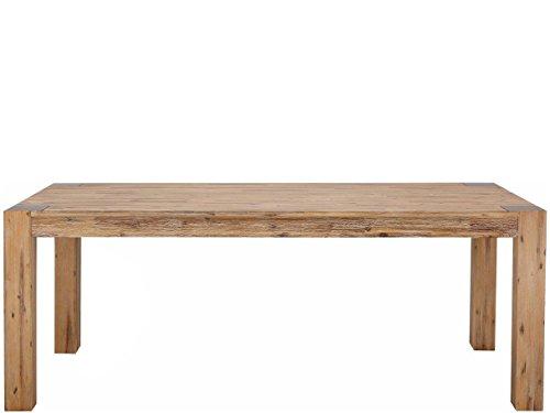 Domus Scandinavia Minnie Esstisch, Holz, Creme Gebürstet, 200 x 100 x 75 cm