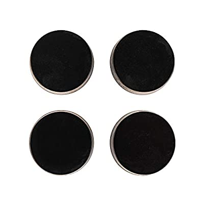 """Isolate It: Sorbothane Vibration Isolation Circular Disc Pad 0.5"""" Thick 1.5"""" Dia. 50 Duro with 3M PSA - 4 Pack by Isolate It!"""