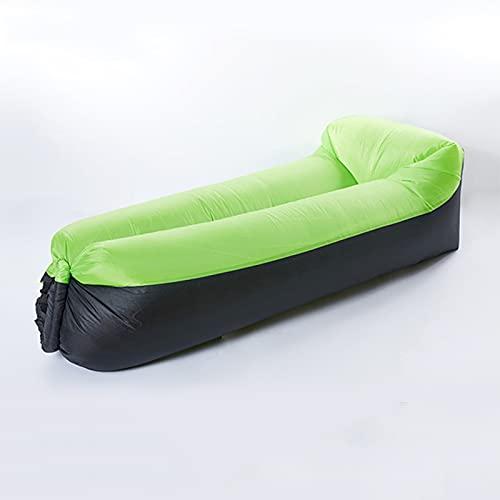 EYLIFE 2021 Neu Aufblasbare Couch, Inflatable Sofa mit Kissen, Tragbares Air Lounger, wasserdichte Luftsessel Luftsack Outdoor, Luft Sitzsack mit Tragtasche, 210T Rip-Stop-Nylon Material,Grün