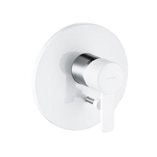 Kludi Fertigmontageset Zenta für Wannen und Brause Batterie mit Umstellung, verchromt, /white, 386509175