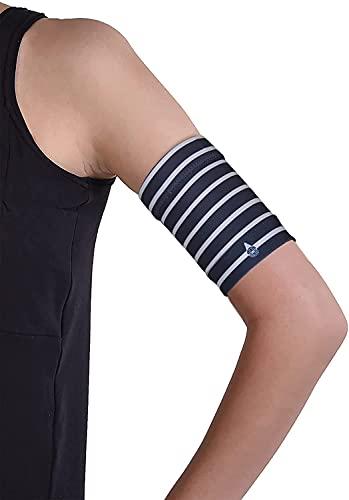 Dia-Band fascia protettiva per sensore di glucosio Freestyle Libre, Medtronic, Dexcom e Omnipod | Fascia in tessuto confortevole per diabetici. (XL (31-35 cm))