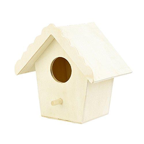 Amuse-MIUMIU Vogelhaus Nistkasten Haus Holz Vogelhaus mit hängendem Vogelhaus - Vogelhaus im Freien gemütliche Ruhe Nest zum Aufhängen für Garten und Balkon (Khaki)