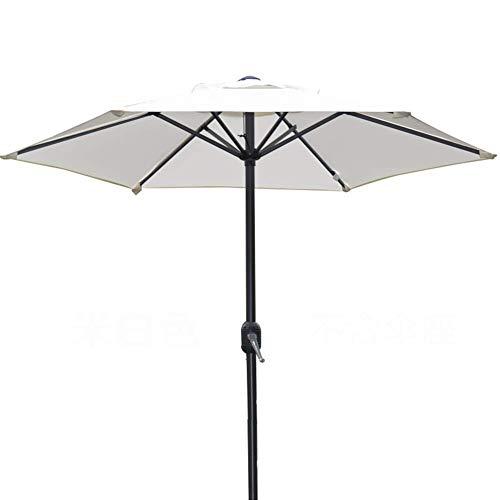 6.5ft/2m Patio Parasol Umbrella UV70+, Premium Outdoor Market Table Umbrella with Crank for Garden, Lawn, Deck, Backyard Pool (Color : White, Size : 6.5ft/200cm)