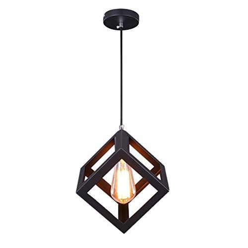 LIUYU Acero al Carbono Dormitorio Comedor lámpara Colgante E27 100-240V de la Vendimia Industrial Lamparas for el hogar Iluminación (Body Color : Without Bulb, Size : Gratis)