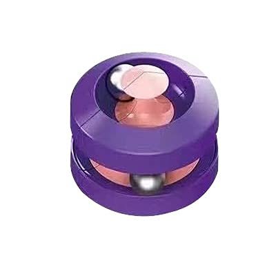 Bead Orbit, Orbit Ball Toy, Pinball Gyro Cube, Fidget Cubes Tops Spinning Toy, Decompression Toy, Stress Relief Gift, Toys for The Office, Intellectual Development Toy, Puzzle Game (Purple) -  LZY-001