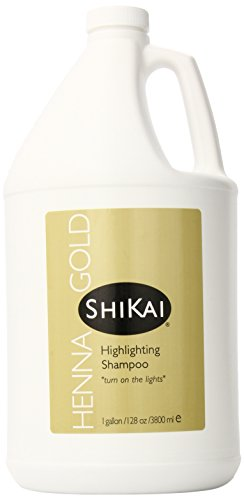 ShiKai - Highlighting Shampoo, Brings Out Highlights & Shine, Adds Luxurious Body, Plant-Based Formula with Non-Coloring Henna (Fragrance, 1 Gallon)