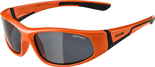Alpina Unisex Jugend FLEXXY JUNIOR Sportbrille, orange, One Size
