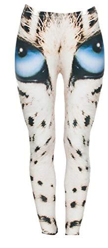 Glamour Girlz Fantastische Damen-blaues Auge-Katzenauge-Leopard-Turnhallen-Trainings-Gewichtheben-Gamaschen UK8-12