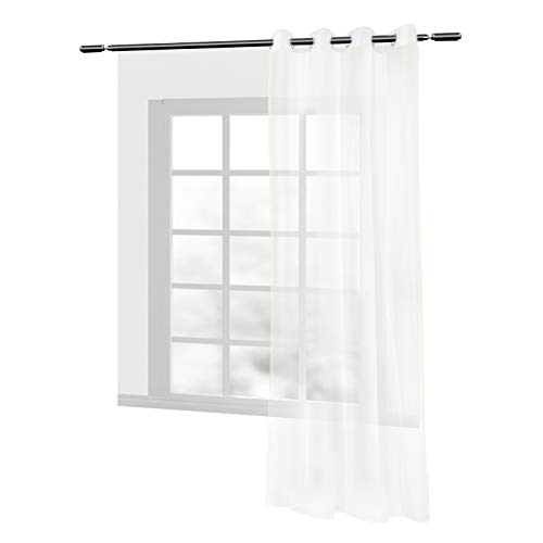 cortinas habitacion blancas transparente