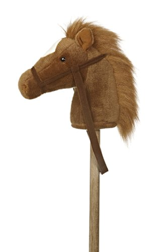 "Aurora World World Giddy-Up Stick Pony 37"" Plush, Brown - 02416"