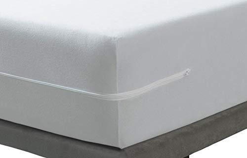 SAVEL, Funda colchón Rizo Microfibra, elástica y Ajustable, 160x190/200 (para Camas de 160)