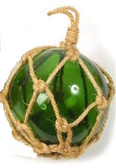 Boule de chalut 15cm Verre Vert
