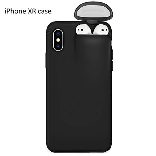 Ternence Flynn Multifunction Mobile Phone Cases, 2 in 1 Design Unified Protective Compatible Storage Phone Shell for AirPods iPhoneXS/X iPhoneXR iPhone11 iPhone11 pro iPhone11 pro max (Black)