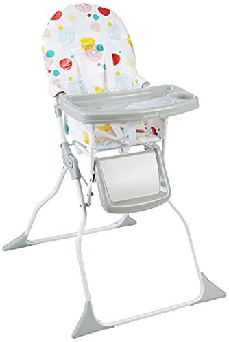 Safety 1st Keeny Trona evolutiva, Trona bebé compacta, Plegable, Óptima para espacios pequeños, Ajustable, Crece con el niño, 6 meses - 3 años, color isla bonita
