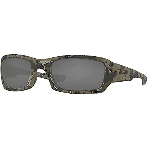 Oakley Adult Fives Squared Sunglasses,54mm,Desolve Bare Camo/Black Iridium