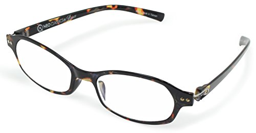 デューク 老眼鏡 レディース +1.0 度数 ネオクラシックデュー 超軽量フレーム ソフトケース付き ブラウンデミ GLR-11-8+1.00