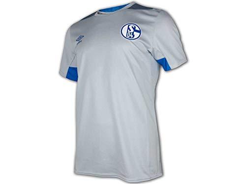Umbro 2018-2019 Schalke Training Football Soccer T-Shirt Trikot (Blue)