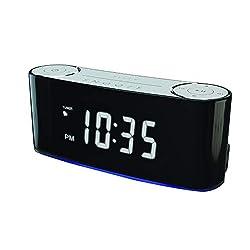 SYLVANIA - Bluetooth Smart Clock Radio with Mood Lighting Setting