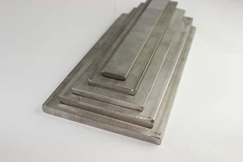Edelstahl Flachstahl 1.4301 Flach Flachstab V2A diverse Größen schweißbar geschnitten vom Band (60x6mm (Breite x Dicke), Länge = 1000mm)