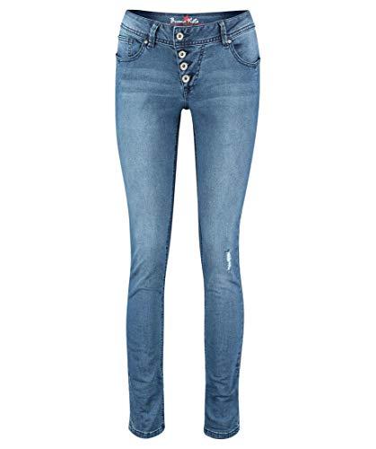 Buena Vista Damen Jeans Malibu Slim Fit darkblue (83) XL
