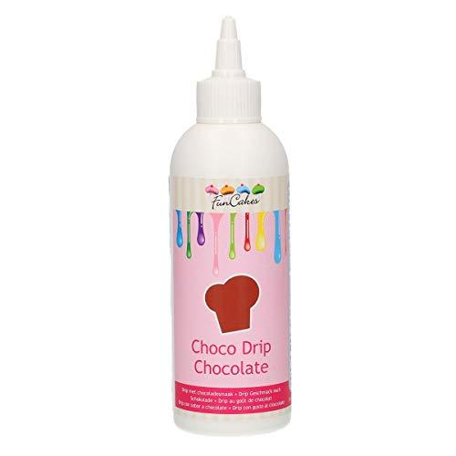 FunCakes Choco Drip Chocolate: Köstlicher Geschmack, Einfach zu Verwenden, Perfekt für Tropfkuchen. Wiederverschließbare Packung, 230 g, FC52310