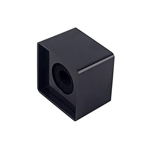 1 Pieza Micrófono en Forma de Cubo Cuadrado Logo Bandera Micrófono de Mano Piezas para Micrófono de Estudio de Entrevista