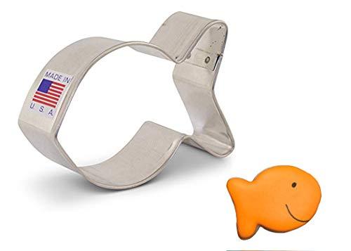 Ann Clark Cookie Cutters Goldfish/Simple Fish Cookie Cutter, 3'