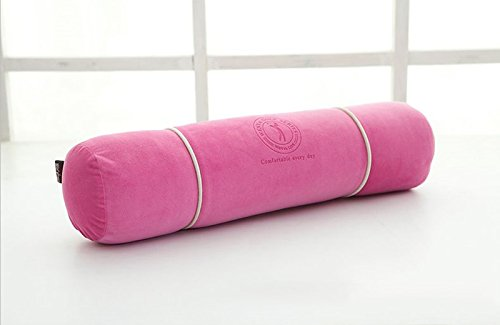 WEBO HOME- 50 * 13cm, oreiller long, oreiller de taille de la femme enceinte, coussin oreiller canapé, coussin de repose-pieds de bain de sommeil -Coussin/oreiller (Couleur : Rose)