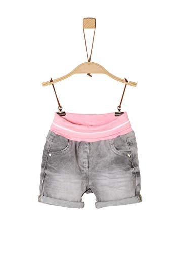s.Oliver Junior 405.10.004.26.180.2037979 Jeans-Shorts, Baby - Mädchen, Grau 80 EU