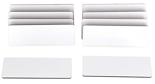 ExcelMark Blank Name Tag/Badge with Magnetic Backing - 1' x 3' (10 Pack - White)