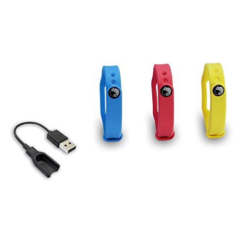 Muñequeras de colores + cable de carga para Pocket Auto Catch (Go-Tcha de Datel y Pocket Auto Catch de Brook)