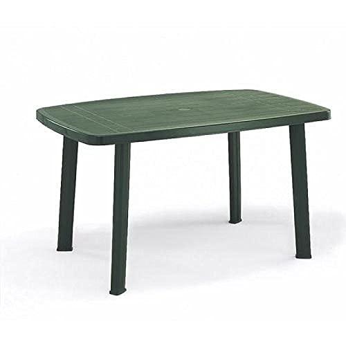 IpaeProgarden Faro - Tavolo conponibile ovale, Polipropilene, Verde, 85 x 137 x 72 cm