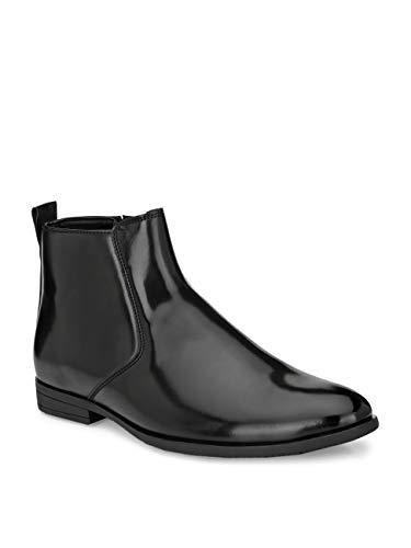 FENTACIA Men Black Side Chain Formal Chelsea Boots