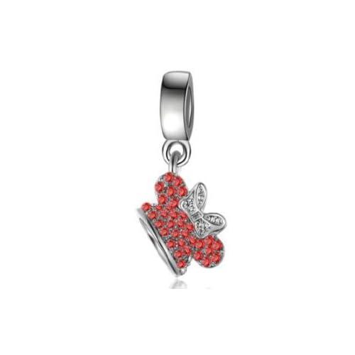 id/ée Cadeau Soldes dhiver Pendentif Couronne de Cendrillon Charms Perles Bracelets compatibles Toutes Marques