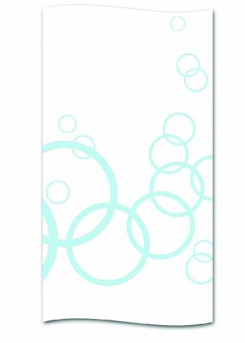 kela Duschvorhang Cyrcle blau Polyester 180 x 200 cm