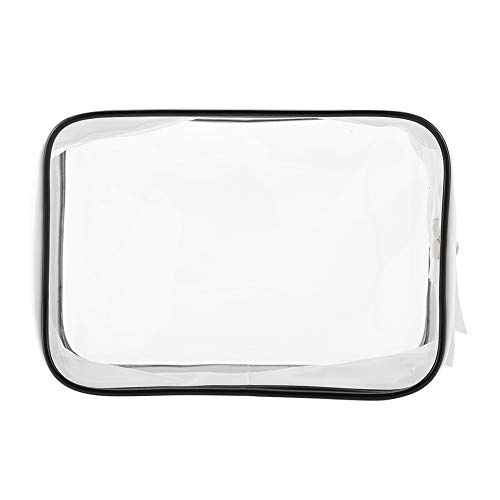 Transparent Large Capacity Make Up Bag, Waterproof PVC Vinyl Zippered Travel Wash Toiletry Cosmetic Storage Pouch for Vacation,Trip Accessories Shampoo