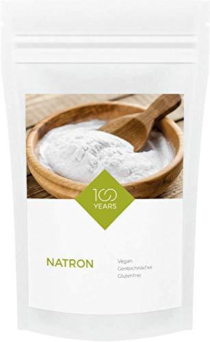 100years - Natron 1000g - Natriumhydrogencarbonat (E500ii) in pharmazeutischer Qualität - abgefüllt in Deutschland - wiederverschließbarer Kraftpapier-Beutel ohne Aluminium - ohne Gentechnik