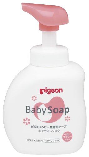 【セット買い】 ピジョン 全身泡ソープ フラワーの香り ボトル 500ml + 詰めかえ用 2回分 800ml (0ヵ月~)