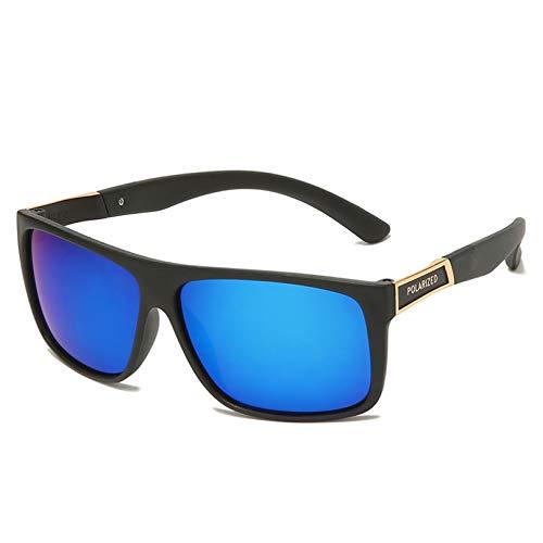 SKJH Gafas de Sol cuadradas, retráctiles, para Conducir, de Goma, cuadradas, para Hombres, Gafas de Sol polarizadas, Damas, Hombres