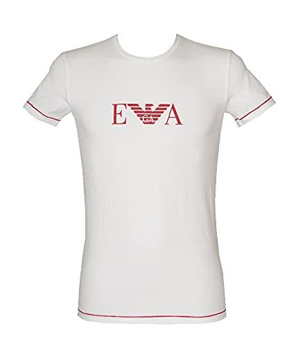Emporio Armani Underwear T-Shirt Iconic Waistband Camiseta, Blanco, S para Hombre
